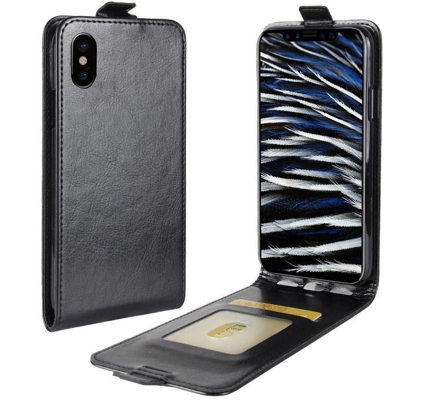 ShieldCase Flipcase zwart leer iPhone Xr