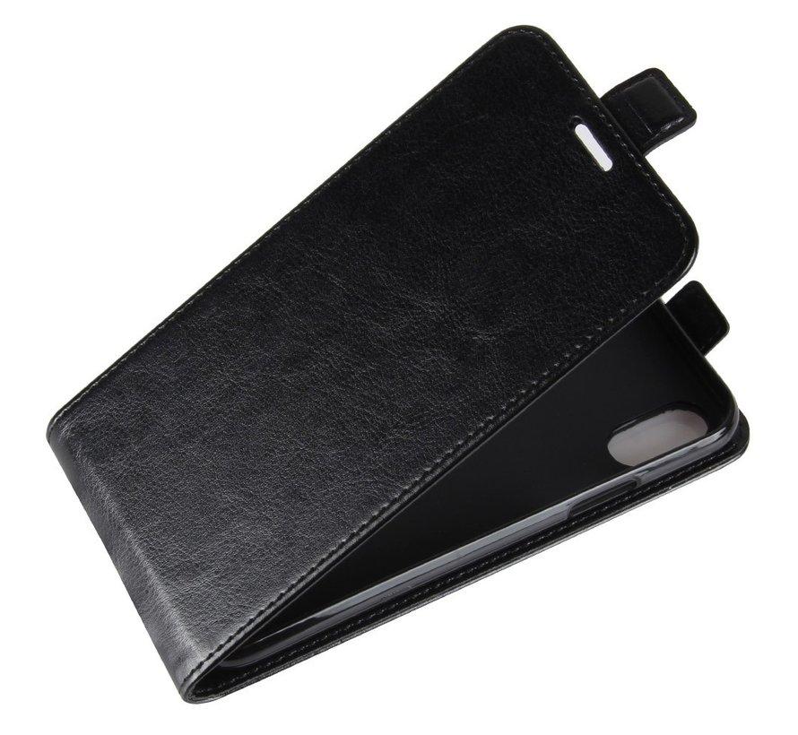 ShieldCase iPhone X / Xs flipcase zwart leer