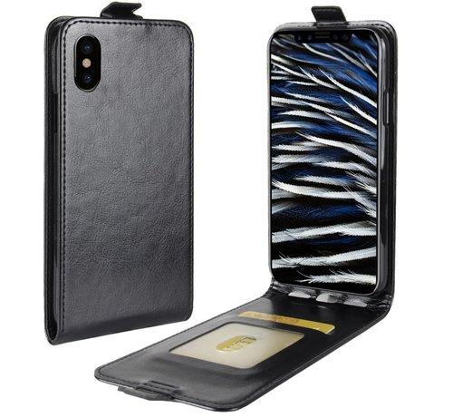ShieldCase® ShieldCase iPhone Xs Max Flip case zwart leer