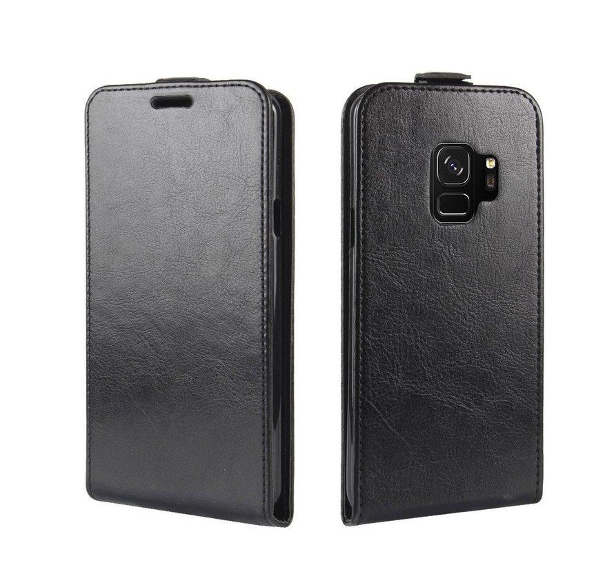 ShieldCase Flipcase zwart leer Samsung Galaxy S9