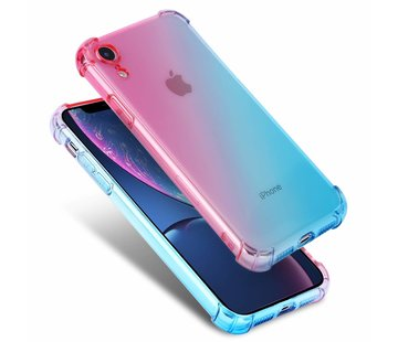 ShieldCase Roze-Blauwe Shock case iPhone Xr
