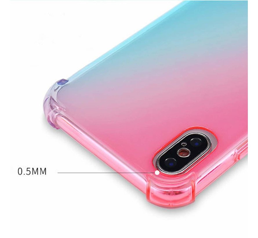 ShieldCase Roze-Blauwe Shock case iPhone X / Xs