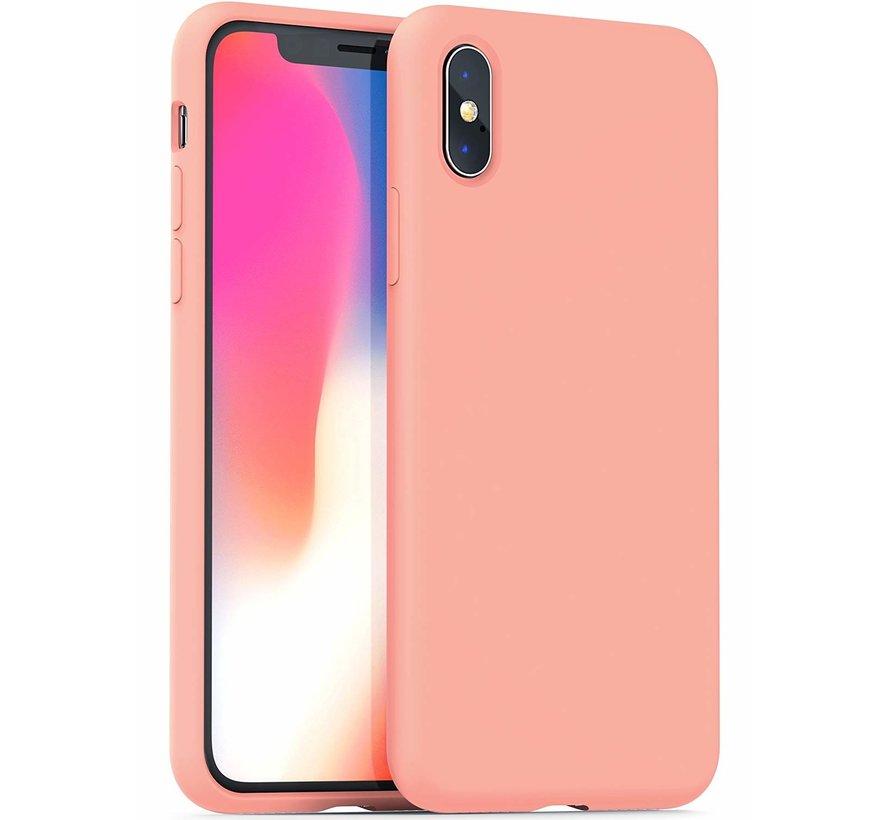 ShieldCase Siliconen case iPhone X / Xs (roze)