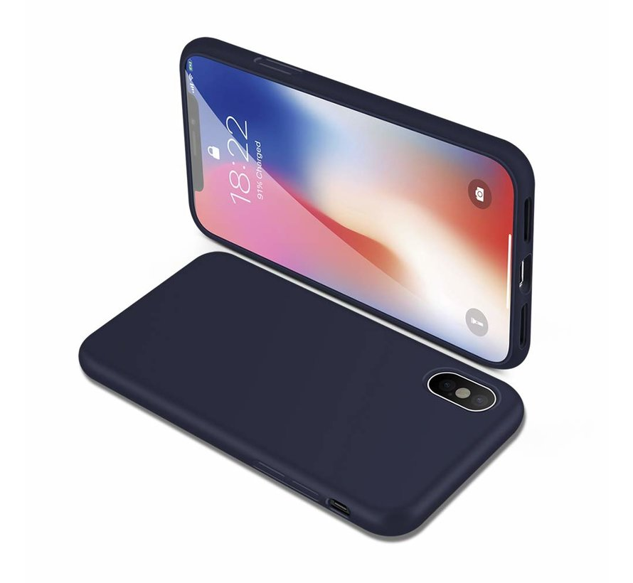 ShieldCase Siliconen case iPhone Xs Max (donkerblauw)