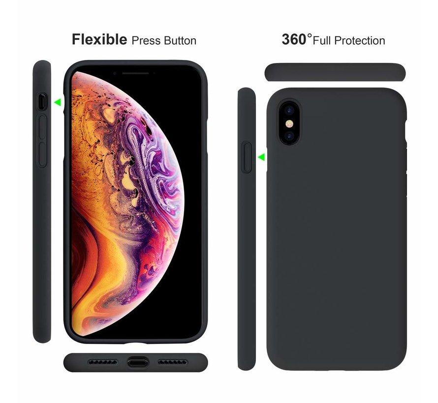 ShieldCase Siliconen case iPhone X / Xs  (zwart)