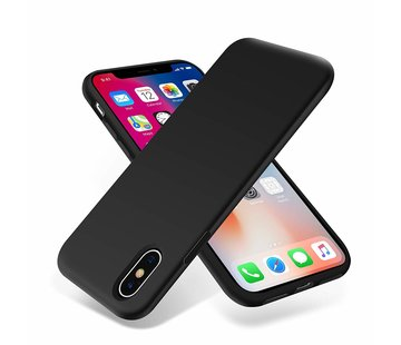 ShieldCase Siliconen case iPhone X / Xs (zwart)
