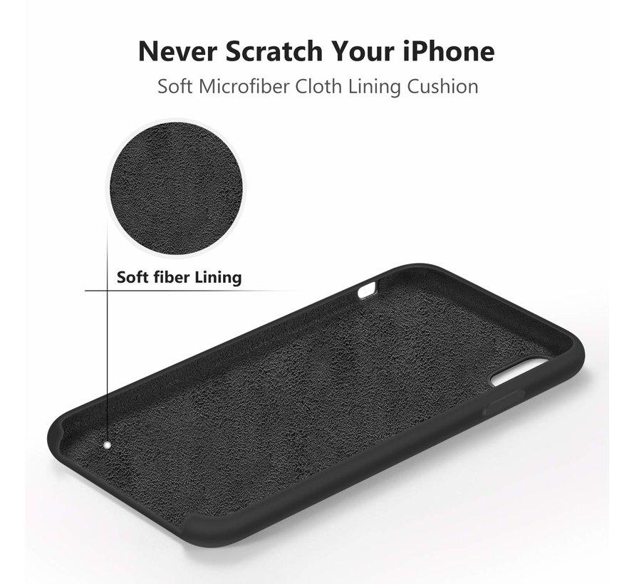 Siliconen case iPhone X / Xs (zwart)