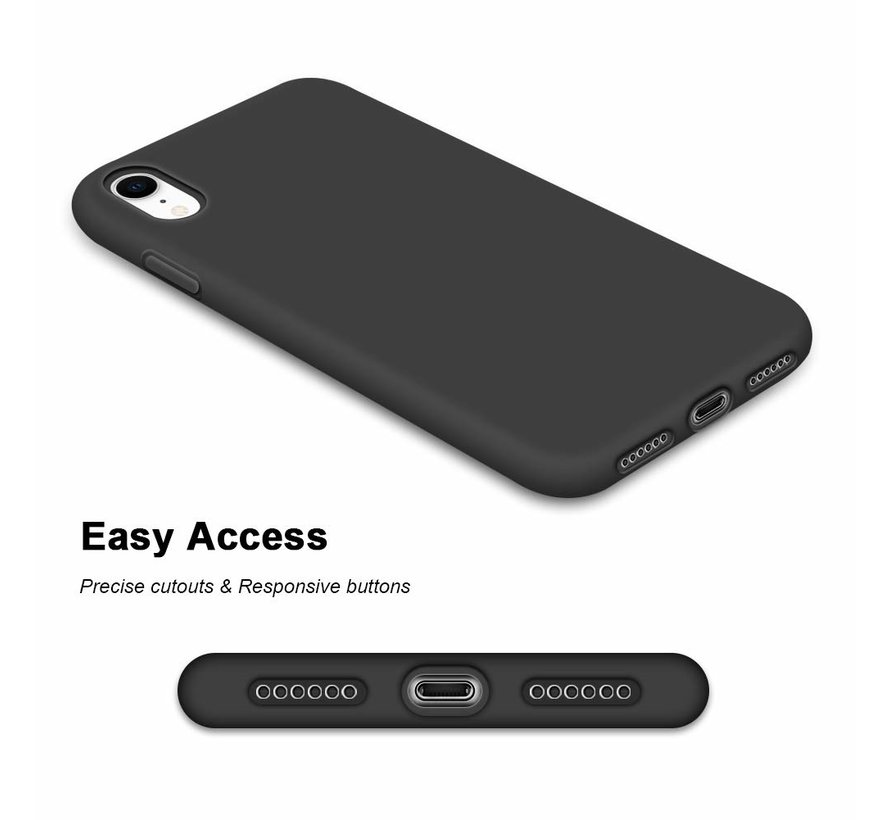 Shieldcase Silicone case iPhone Xr (zwart)