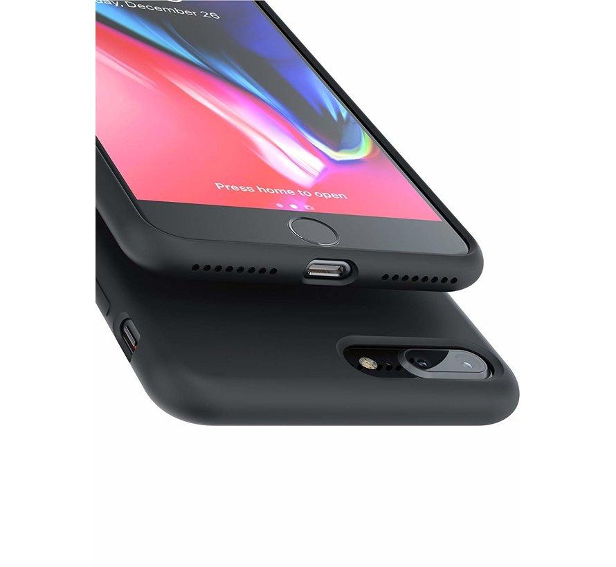 ShieldCase Siliconen case iPhone 8 Plus / 7 Plus  (zwart)