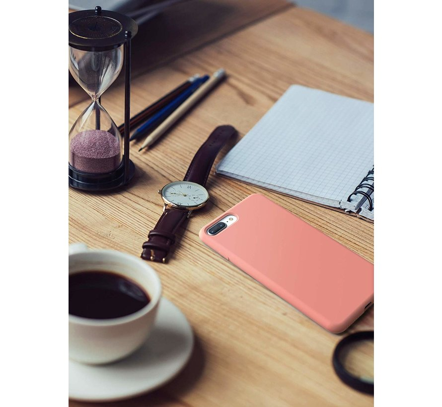 ShieldCase Siliconen case iPhone 8 Plus / 7 Plus  (roze)