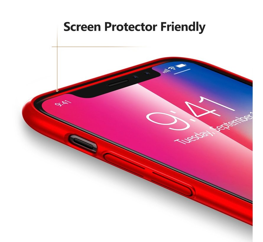 ShieldCase Ultra thin case iPhone X / Xs  (rood)