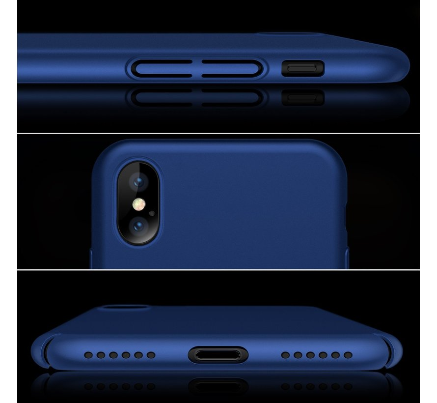 ShieldCase iPhone X / Xs ultra thin case (blauw)