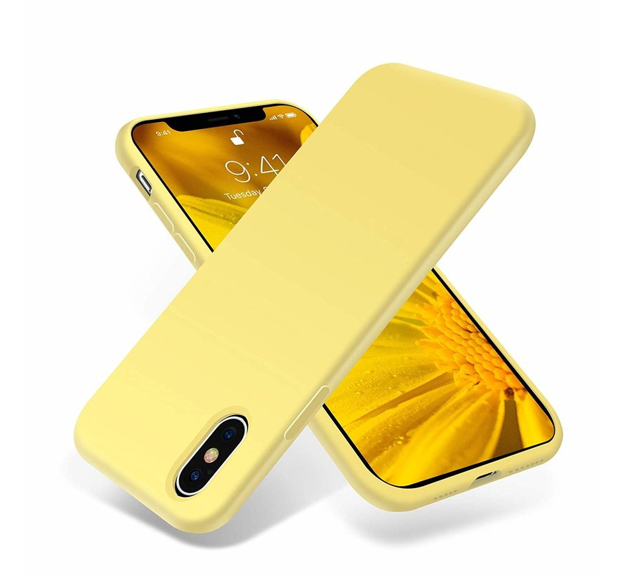 ShieldCase Silicone case iPhone X / Xs (geel)