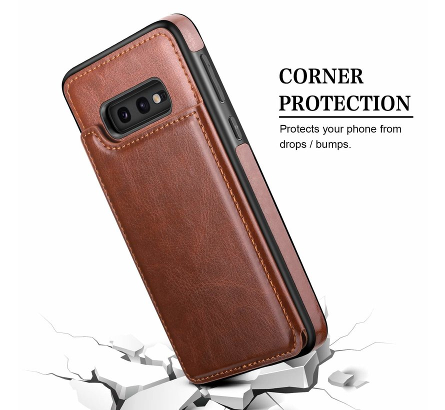 ShieldCase Wallet Case Samsung Galaxy S10e (bruin)