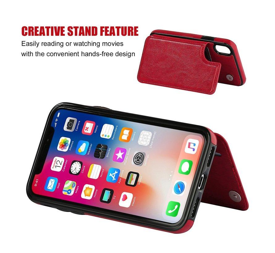 ShieldCase Wallet Case  iPhone X / Xs (rood)