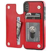 ShieldCase Wallet Case iPhone X / Xs (rood)