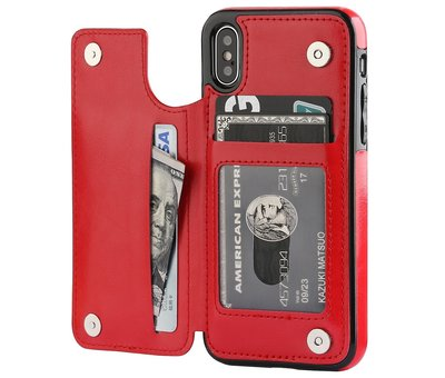 ShieldCase ShieldCase Wallet Case  iPhone X / Xs (rood)