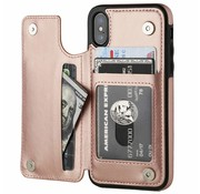 ShieldCase Wallet Case iPhone X / Xs (roze)