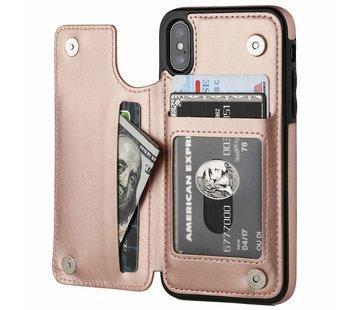 ShieldCase® Wallet Case iPhone X / Xs (roze)