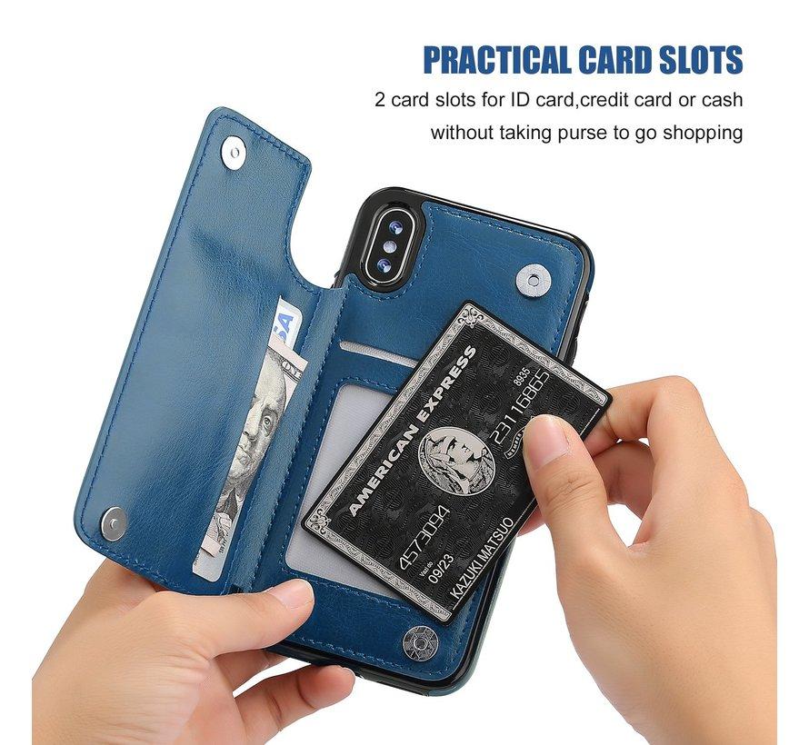 ShieldCase Wallet Case  iPhone X / Xs (blauw)
