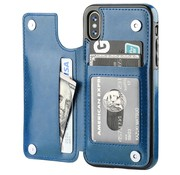 ShieldCase Wallet Case iPhone X / Xs (blauw)