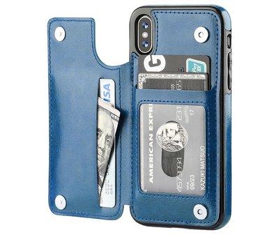 ShieldCase ShieldCase Wallet Case  iPhone X / Xs (blauw)