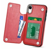 ShieldCase Wallet Case iPhone Xr (rood)