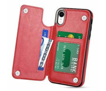 ShieldCase Wallet Case iPhone Xr (rood)