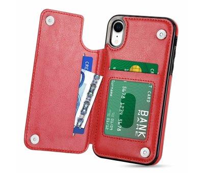 ShieldCase ShieldCase Wallet Case  iPhone Xr (rood)