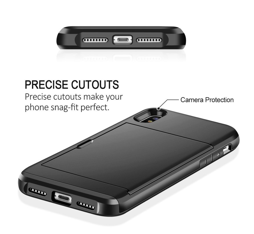Shieldcase Kaarthouder case met slide iPhone X / Xs