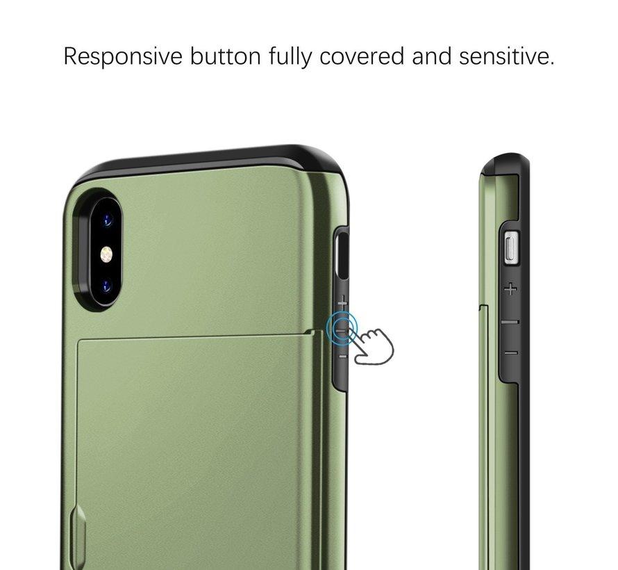 ShieldCase Kaarthouder case met slide iPhone  X / Xs (groen)