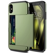 ShieldCase® Kaarthouder case met slide iPhone X / Xs (groen)