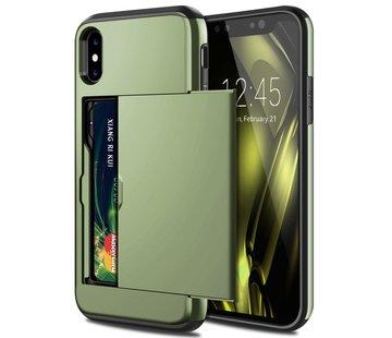 ShieldCase® Kaarthouder case met slide iPhone X / Xs (groen)