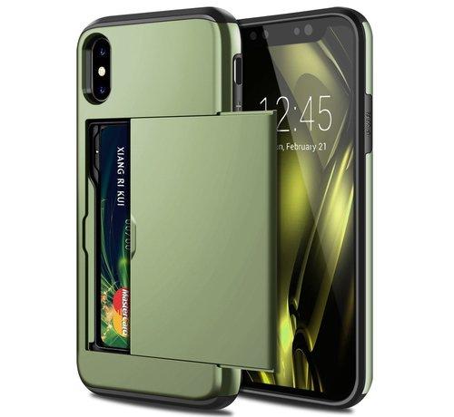 ShieldCase ShieldCase Kaarthouder case met slide iPhone  X / Xs (groen)