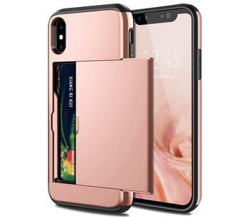 ShieldCase® Kaarthouder case met slide iPhone X / Xs (rosé goud)