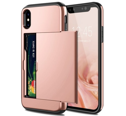 ShieldCase ShieldCase Kaarthouder case met slide iPhone  X / Xs (rosé goud)