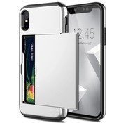 ShieldCase® Kaarthouder case met slide iPhone X / Xs (zilver)