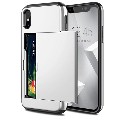 ShieldCase ShieldCase Kaarthouder case met slide iPhone  X / Xs (zilver)