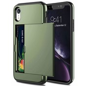 ShieldCase® Kaarthouder case met slide iPhone Xr (groen)