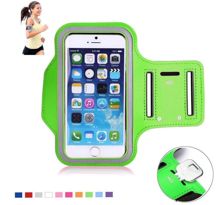 Groene universele sportarmband voor smartphone