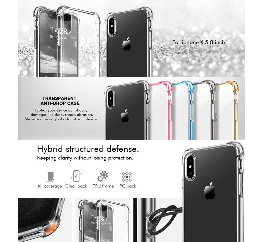 ShieldCase Shock case iPhone X / Xs (roze)