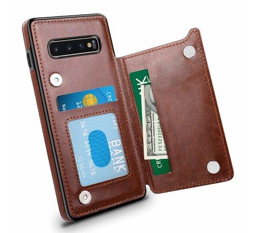 ShieldCase ShieldCase Wallet Case Samsung Galaxy S10 (bruin)