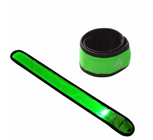 ShieldCase Reflecterende groene LED-strip armband