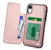 ShieldCase® Wallet Case iPhone Xr (roze)