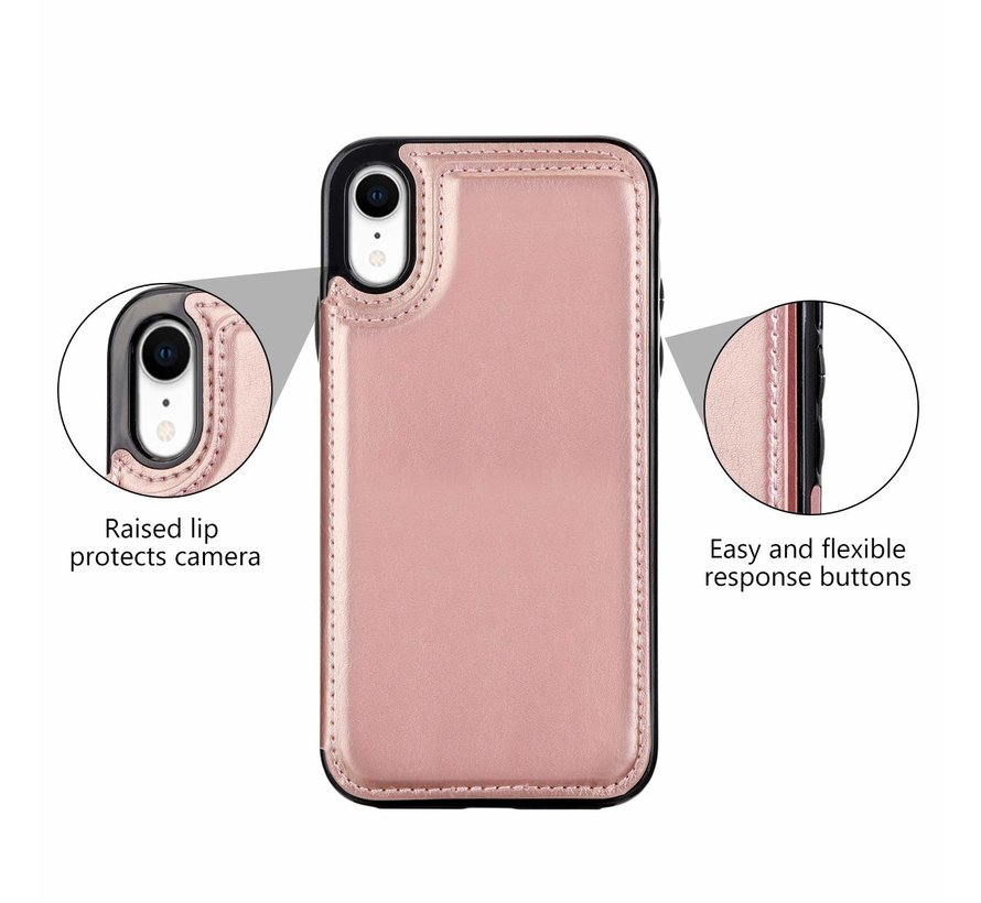 ShieldCase Wallet Case iPhone Xr (roze)
