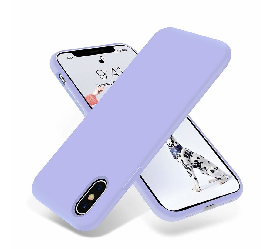 ShieldCase Silicone case iPhone X / Xs (paars)