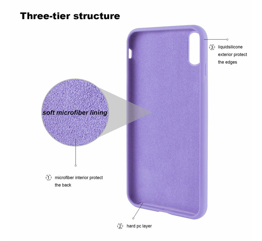 Shieldcase Silicone case iPhone Xs Max (paars)