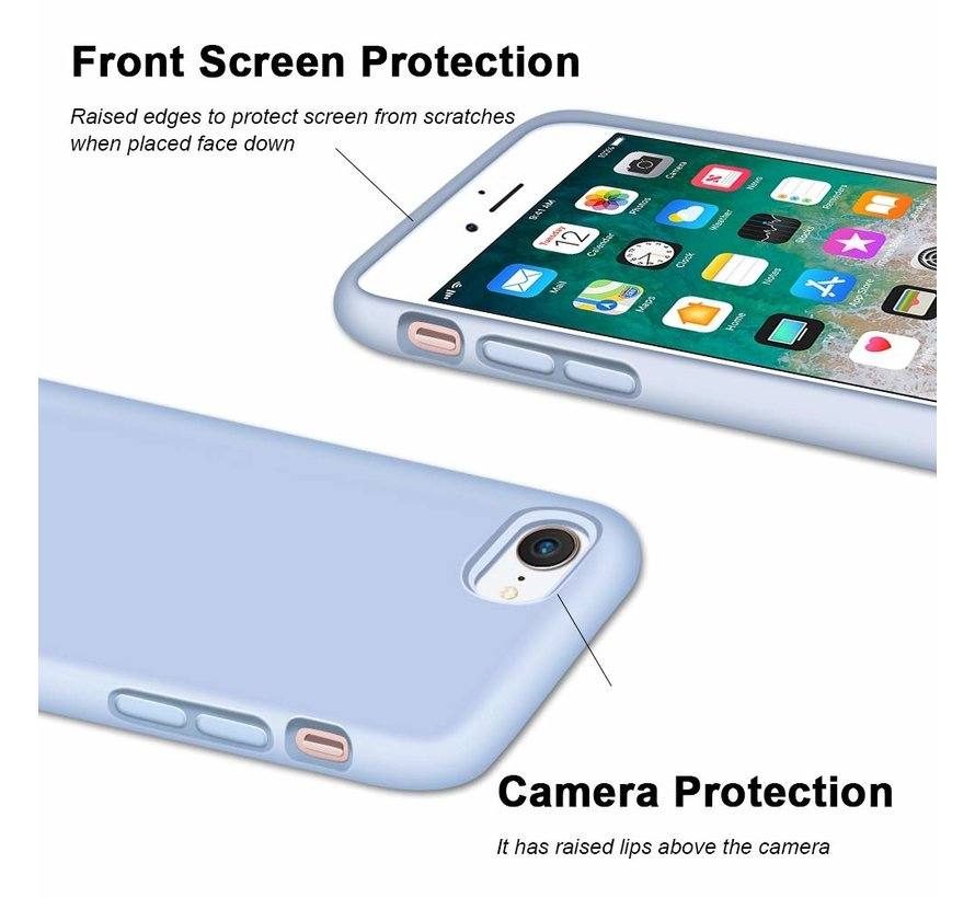 ShieldCase Silicone case iPhone 7 / 8  (paars)