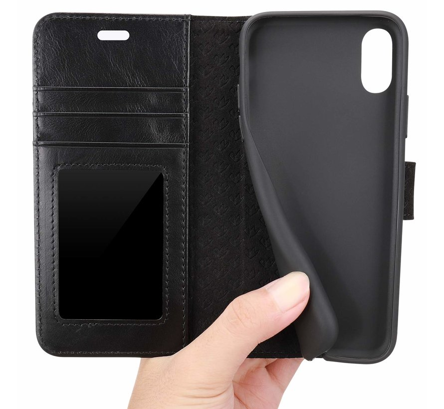 Shieldcase vintage leren wallet case iPhone Xr