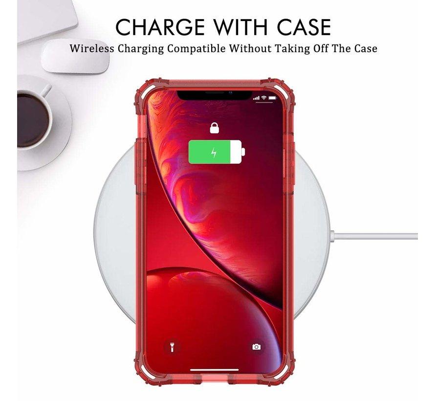 Glitter Shock case iPhone X / Xs (rood)